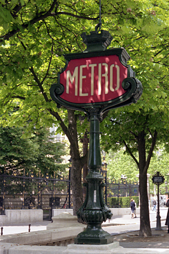 Metro sign in Paris photographed by pop artist Trevor Heath