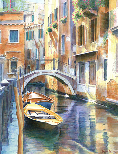 Acrylic painting of Ponte dei Carmini, Venice by Trevor Heath