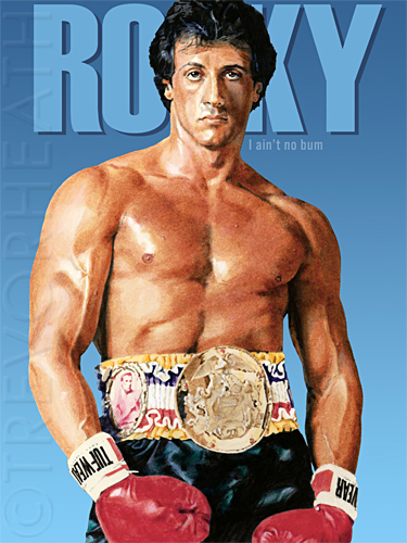 Portrait print of Sylvester Stallone as Rocky Balboa by ...