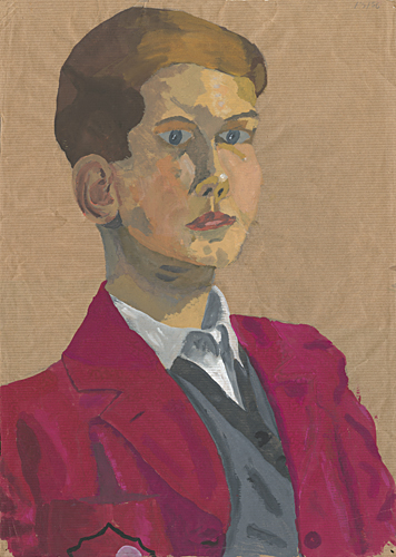 Self-portrait, 1956 painted by Trevor Heath aged twelve