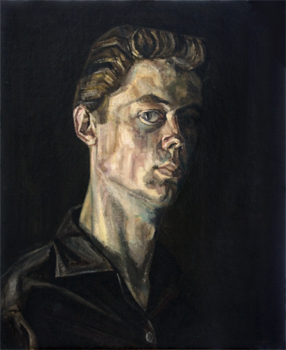 Self-portrait, summer 1961 painted by Trevor Heath aged 17