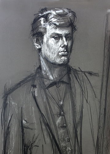 Self-portrait, 1963 painted by Trevor Heath when an art student aged 19