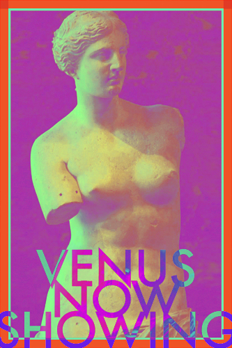 Venus now showing created by pop artist Trevor Heath