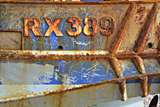 RX389 fishing boat, Hastings photographed by artist Trevor Heath