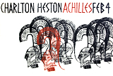 Achilles silk screen print by artist Trevor Heath
