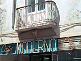 Cafe Moderno, Portugal photographed by artist Trevor Heath