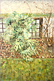 The Fatsia Japonica at Poplar Road painted by artist Trevor Heath