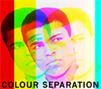 Colour separation, an image created by pop artist Trevor Heath