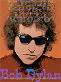 An original portrait print of Bob Dylan by pop artist Trevor Heath
