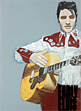 Early Elvis poster painted by artist Trevor Heath