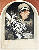 Work, Adolf Eichmann painted by artist Trevor Heath