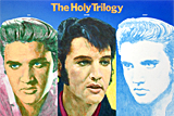 The Holy Trilogy, three portraits of Elvis Presley by artist Trevor Heath