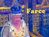 Farce, an image of the Queen opening Parliament created by pop artist Trevor Heath