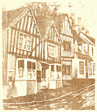 Lavenham Post Office litho print by artist Trevor Heath