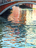 A moment's reflection, Venice, an oil painting of Venice by artist Trevor Heath