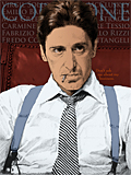 An original portrait print of Al Pacino as Michael Corleone in The Godfather by pop artist Trevor Heath