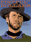 An original portrait print of Clint Eastwood as the Man with No Name in Fistful of Dollars by pop artist Trevor Heath