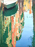 Calm reflections, Venice, an oil painting of Venice by artist Trevor Heath