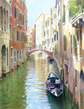 Ponte de la Fava, Venice painted by artist Trevor Heath