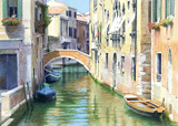 Ponte de la Grana, Venice painted by artist Trevor Heath