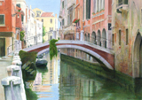 Ponte Ubaldo Belli, Venice painted by artist Trevor Heath