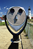 Binoculars at Portland Light, USA photographed by artist Trevor Heath