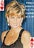 A portrait of Princess Diana by artist Trevor Heath
