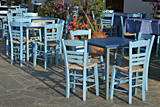Taverna chairs on Sifnos photographed by artist Trevor Heath