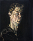 Self-portrait at 17 painted by artist Trevor Heath