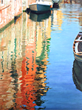 Time and tide, an oil painting of Venice by artist Trevor Heath